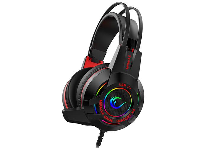 Rampage Miracle-X4 Siyah RGB Led 7.1 Surround Sound System Mikrofonlu Oyuncu Kulaklığı