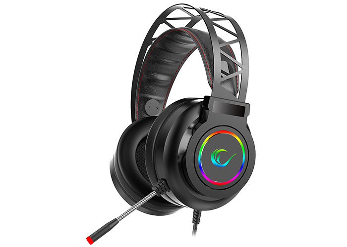 Rampage Miracle-X5 Black RGB Led 7.1 Surround Sound System Gaming Headset with Microphone