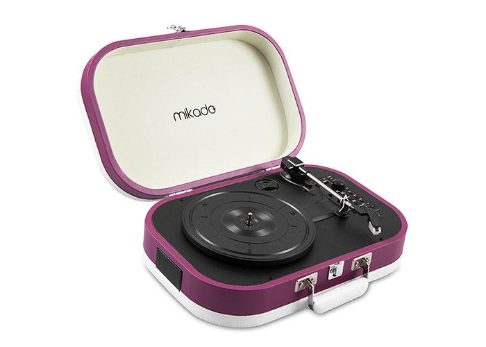 Mikado Nostalgia MN-101 Pikap Mor Usb+RCA+Bluetooth Destekli Müzik Kutusu