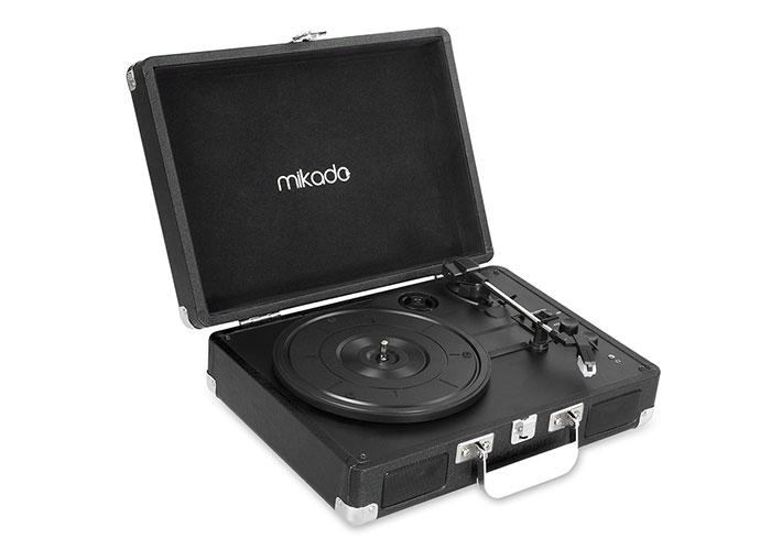 Mikado Nostalgia MN-P317 Siyah Turntable+Rca+Bluetooth Destekli Müzik Kutusu