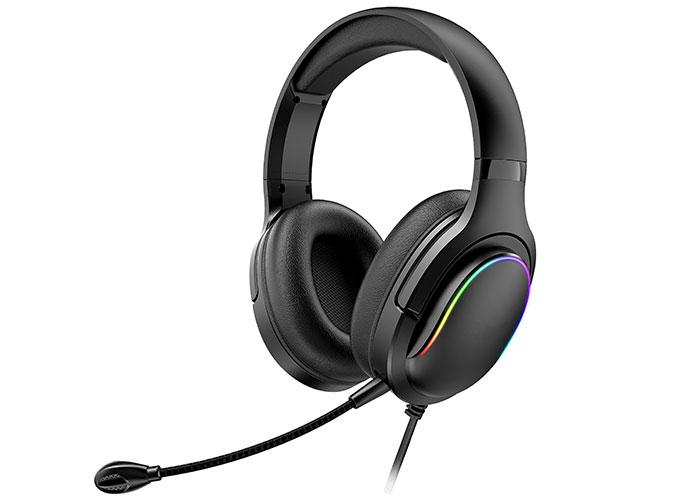 Rampage Miracle X6 Siyah RGB Led USB ve 3.5mm Mikrofonlu Oyuncu Kulaklığı