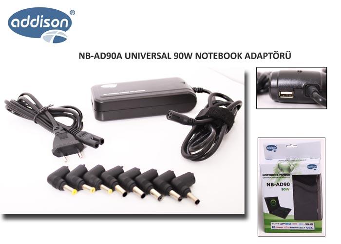 Addison NB-AD90A 90W Usb li Notebook Universal Adaptör