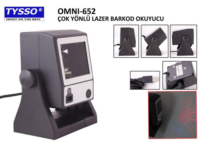 Tysso OMNI-652-USB-B-SEG Masa Tipi Barkod Okuyucu