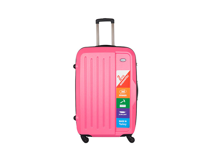 Addison ADS-201 Pink Medium Size Suitcase