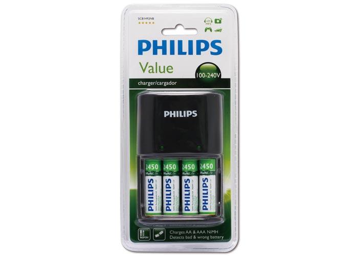 Philips SCB1492NB/12 - SCB1480NB/12 SCB1492NB/12 4lü 2450 Mah Pil şarj cihazı