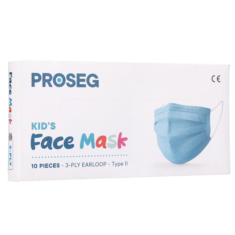Proseg PRO3PLYKIDS Mavi Melt Blown Koruyucu Çocuk Yüz Maskesi 10lu