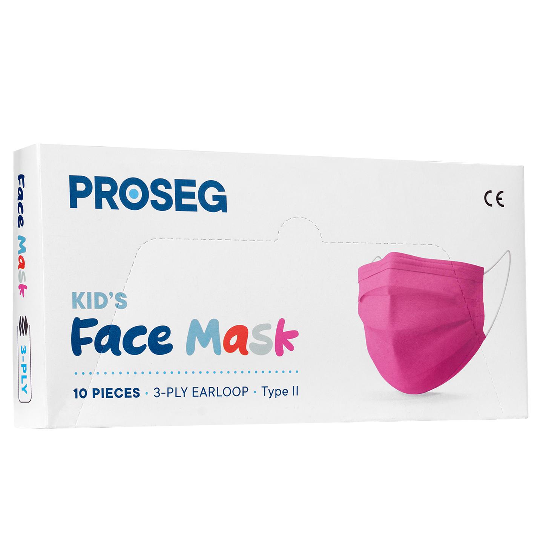 Proseg PRO3PLYKIDS Pembe Melt Blown Koruyucu Çocuk Yüz Maskesi 10lu
