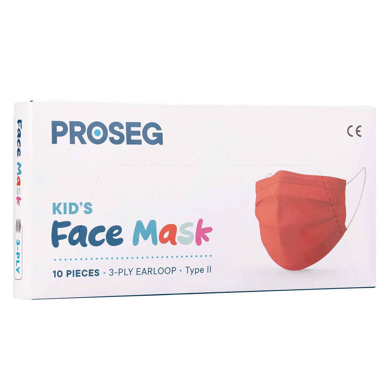 Proseg PRO3PLYKIDS Kırmızı Melt Blown Koruyucu Çocuk Yüz Maskesi 10lu