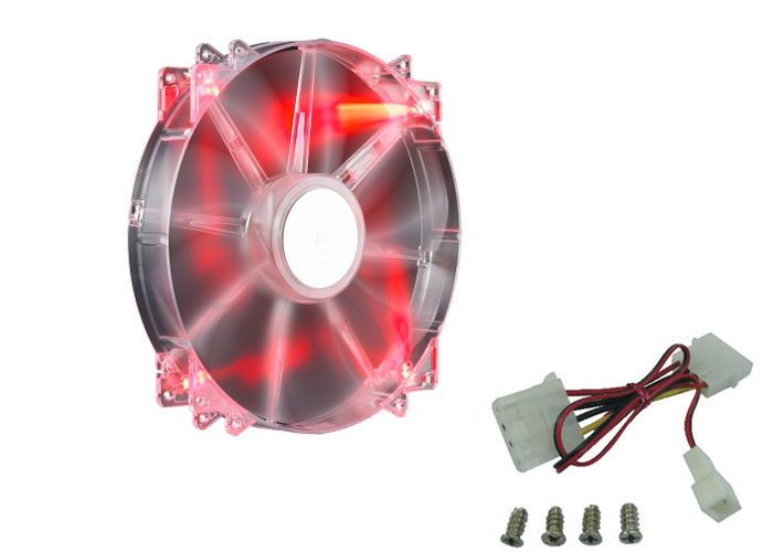 Cooler Master R4-LUS-07AR-GP 200*200*30mm MegaFlow 200 Kırmızı LED Kasa Fanı