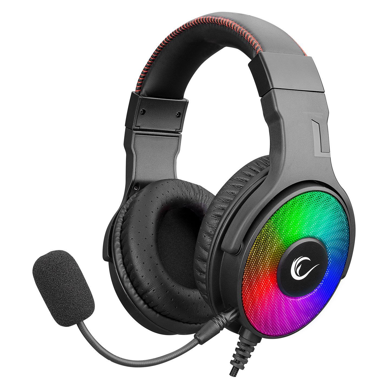 Rampage R46 HOSTAGE Siyah USB 7.1 Surround RGB Ledli Gaming Oyuncu Mikrofonlu Kulaklık