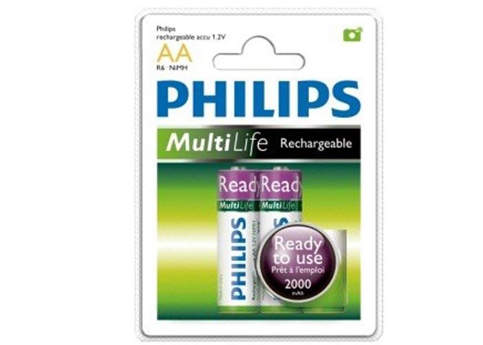 Philips R6B2RTU20/97 2li Şarjlı RTU Pil