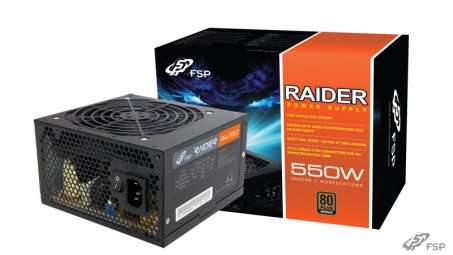 Fsp RAIDER 550 550W 80Plus Bronze Power Supply