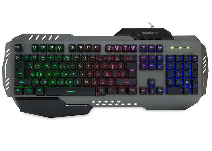 Rampage KB-R79 Gökkuşağı Aydınlatmalı USB Gaming Q Multimedia Klavye