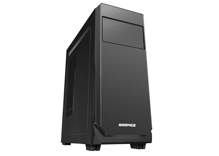 Rampage 66S Smooth Black Usb 3.0 2 * Usb 2.0 12cm Fan Case