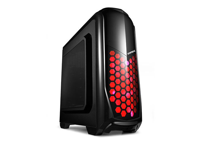 Everest ARMEGO Siyah 2*12cm Fan Red LED Fan 2*USB3.0 Kasa