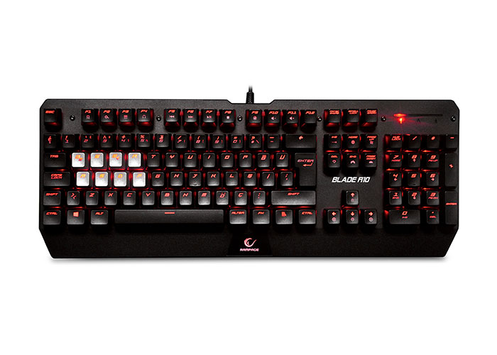 Everest Rampage Blade R10 Black USB Illuminated Gaming Q Mechanical Keyboard