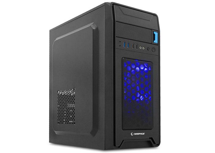 Rampage Castrum Peak-420W Siyah 2*USB3.0+2*USB 12cm Mavi LED Fan Oyuncu Kasası