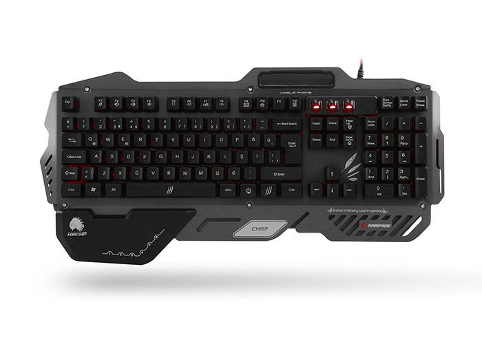 Rampage Chief Black USB Gaming Q Multimedia Keyboard