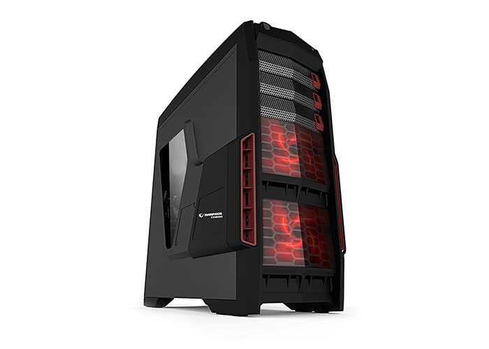 Everest Cobra 600W Peak-650W 2x12Cm Red Fan Usb 3.0 Player Case With Window