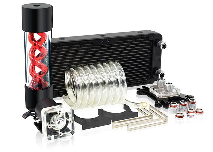 Rampage Gust Fan-K240 2Pcs 120 * 120 * 25mm Intel 775-2066 / Amd FM1-AMD4 Custom Liquid Cpu Cooler Kit