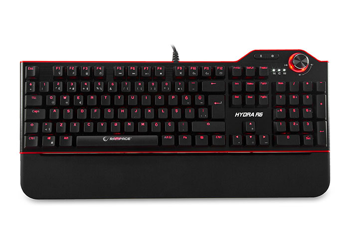 Everest Rampage Hydra R6 Black USB Illuminated Gaming Pro Q Multimedia Mechanical Keyboard