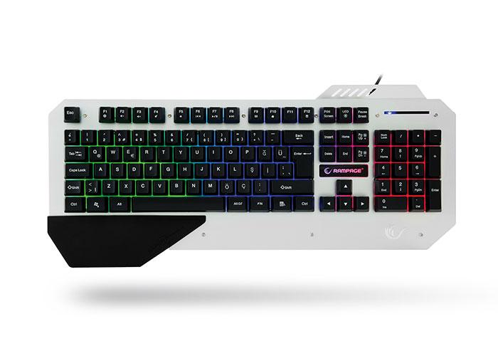 Everest Rampage KB-R04 Siyah USB Aydınlatmalı Gaming Q Multimedia Klavye