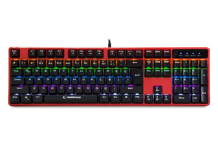 Everest Rampage KB-R18 Myth Kırmızı USB Gökkuşağı Aydınlatmalı Q Mekanik Gaming Klavye