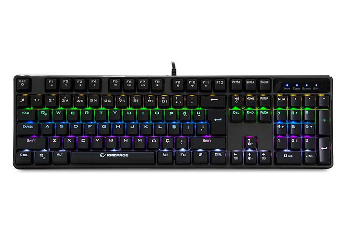 Rampage KB-R18 Myth Siyah USB Gökkuşağı Aydınlatmalı Q Mekanik Gaming Klavye