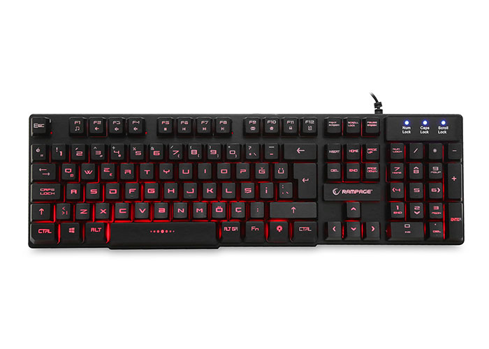 Everest Rampage KB-R55 Black Gaming Q Multimedia Keyboard