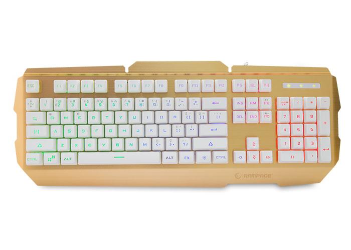 Everest Rampage KB-R9 Gold/Beyaz USB Işıklandırmalı Q Oyuncu Klavyesi