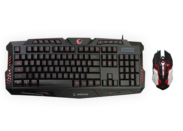 Rampage KM-R77 Siyah Usb 3 Farklı Ledli Gaming Q Multimedia Klavye + Mouse Set