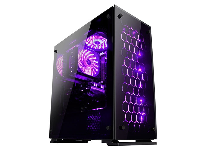 Everest Rampage MAJESTY Tempered Glass Cam 3*120mm RGB Led Fan Usb3.0 + 2*Usb2.0 Pencereli Kasa