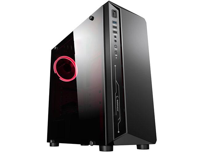 Rampage SHADOW HD Audio 600W Siyah 4*12cm Kırmızı Led Fan 1*Usb3.0 2*Usb2.0 Pencereli Oyuncu Kasası