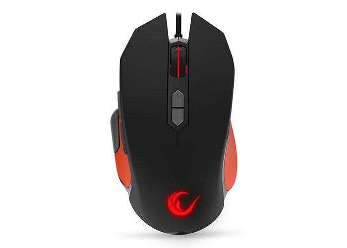 Rampage STRIKE SMX-R14 Black / Orange color, 9 Keys RGB  Gaming Mouse