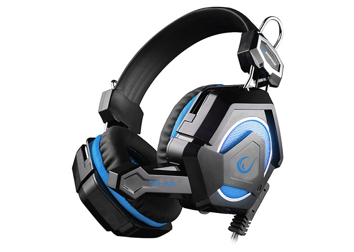 Snopy Rampage SN-R71 Siyah/Mavi Ledli Oyuncu Mikrofonlu Kulaklık