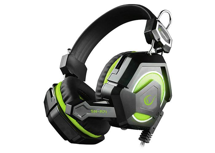 Rampage SN-R71 Siyah/Yeşil Ledli Oyuncu Mikrofonlu Kulaklık