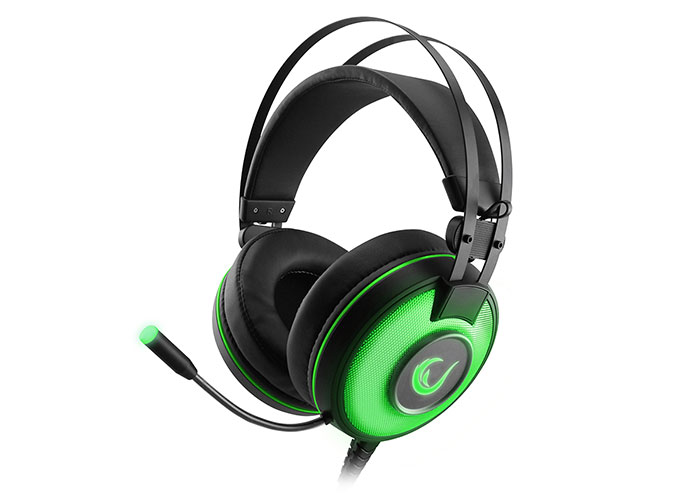 Rampage SN-RW66 ALPHA-X Green 7.1 Surround Sound System Gaming Headset with Microphone