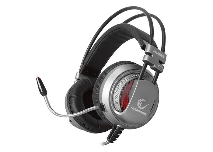 Rampage SN-RW6 Raptor Gümüş/siyah 7.1 Surround Sound System Titresimli Gaming Mikrofonlu Kulaklık