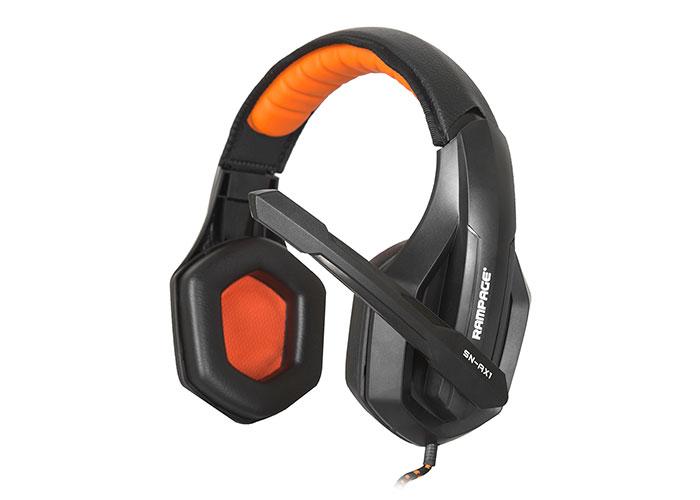 Snopy Rampage SN-RX1 Oyuncu Siyah/Turuncu Mikrofonlu Kulaklık