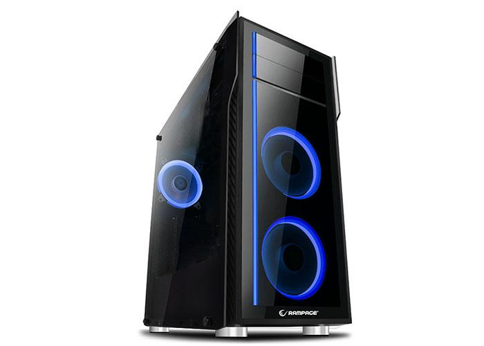Rampage Thunder Pro Siyah Usb 3.0*2 RGB Fan Temperli Cam Gaming Kasa