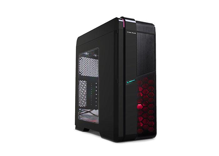 Everest Rampage TITAN PLUS Black 2 * 12cm Red Led Fan USB 3.0 Case