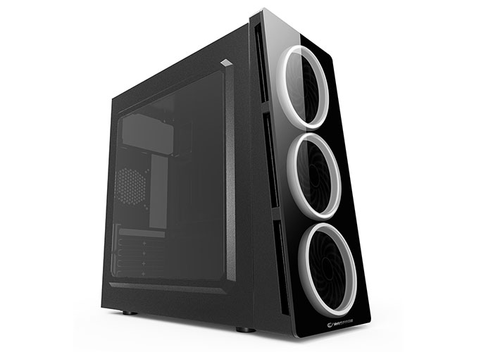 Rampage X-CORE HD Audio Black 3 * Dual White Fan 1 * Usb 3.0 + 2 * Usb 2.0 Glass Windowed Gaming Case