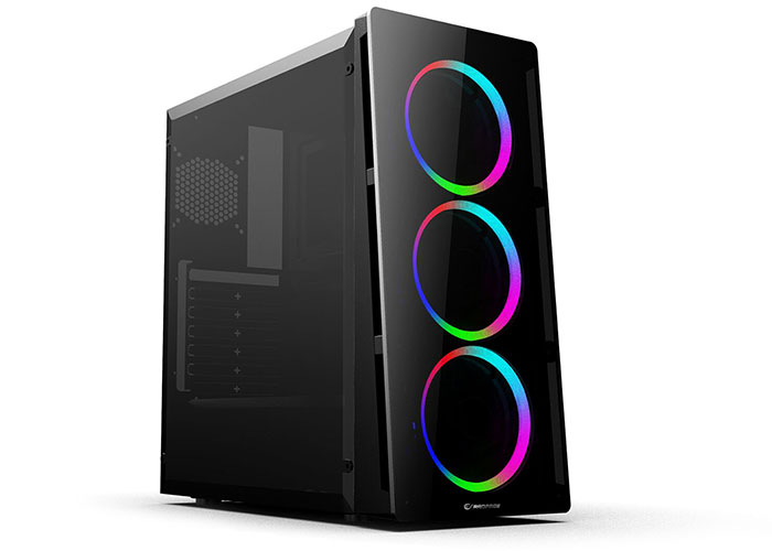 Rampage X-CORE 3 Double Ring Rainbow Fan Usb 3.0 Windowed Gaming  Case