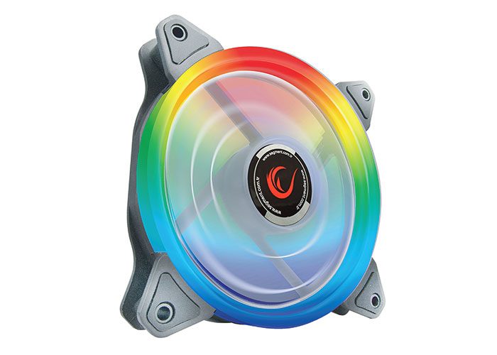 Rampage RB-K4 120 * 120 * 25mm 4 * Aurora Rainbow Led Fan  Remote Controlled Fan Control Kit