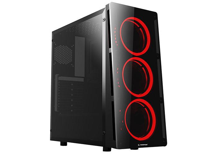Rampage REDCORE 3*12cm Kırmızı Led Fan 500W 80Plus USB 3.0 Gaming Oyuncu Kasası