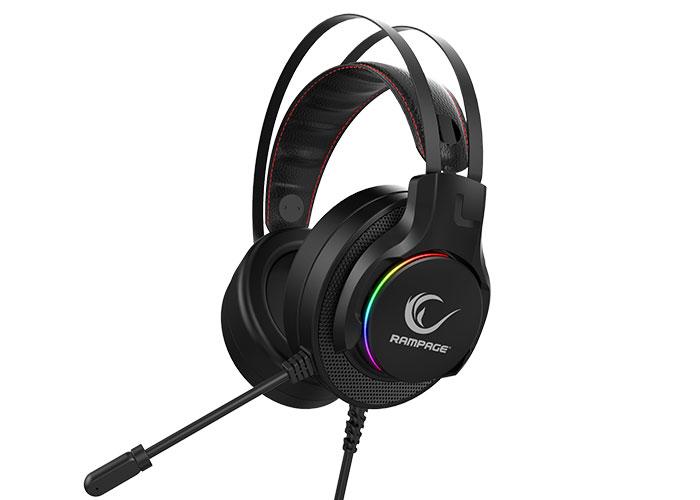 Rampage RG-X19 ULTIMATE PRO Siyah 7.1 Surround Sound System RGB Ledli Mikrofonlu Oyuncu Kulaklığı