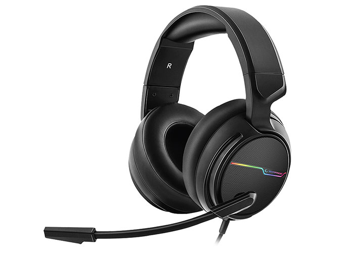 Rampage RGW9 COMFORT Black USB 7.1 Surround Sound RGB Gaming Headset with Microphone