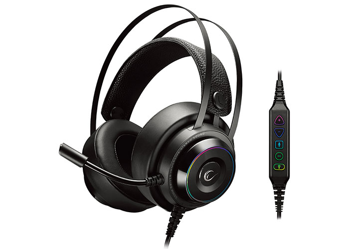 Rampage RG-X19 ULTIMATE Black USB 7.1 Version RGB Led Microphone Headset