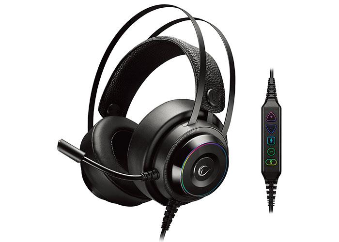 Rampage RG-X19 ULTIMATE Siyah USB 7,1 Version RGB Ledli Mikrofonlu Oyuncu Kulaklığı