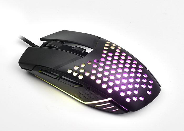 Everest SM-GX19 ANGARD Usb RGB Işıklı Makrolu 6400dpi Örgü Kablolu Gaming Oyuncu Mouse